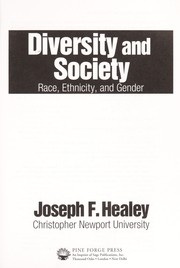 Cover of: Diversity and society | Joseph F. Healey