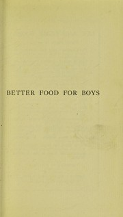 Cover of: Better food for boys