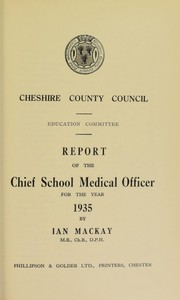 Cover of: [Report 1935]