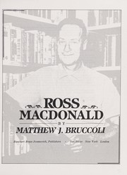 Cover of: Ross Macdonald | Matthew Joseph Bruccoli