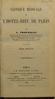 Cover of: Clinique m©♭dicale de l'H©þtel-Dieu de Paris