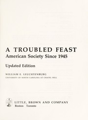 Cover of: A troubled feast : American society since 1945 |