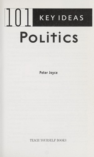 101 key ideas, politics by