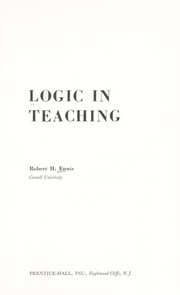 Cover of: Logic in teaching