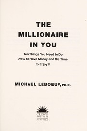 Cover of: The millionaire in you