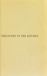 Cover of: Philosophy in the kitchen | G. L. M. Strauss