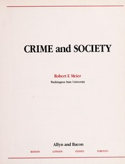 Cover of: Crime and society