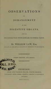 Cover of: Observations on derangement of the digestive organs | William Law