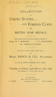 Cover of: Collection of United States and foreign coins, and British War Medals | New York Coin and Stamp Co