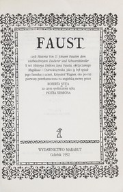 Cover of: Faust