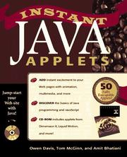Cover of: Instant Java applets
