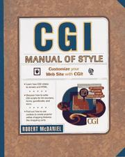 Cover of: CGI Manual of Style