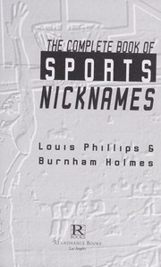Cover of: The complete book of sports nicknames