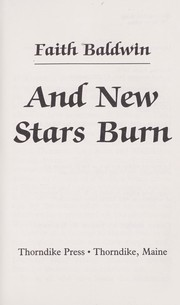 Cover of: And new stars burn