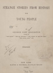 Cover of: Strange stories from history for young people