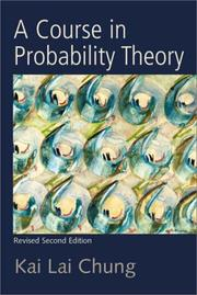 Cover of: A course in probability theory