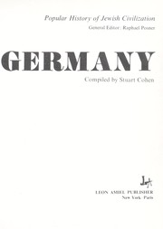 Cover of: Germany | Stuart Cohen