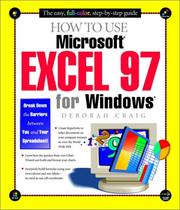 Cover of: How to use Microsoft Excel 97 for Windows