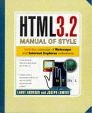 Cover of: HTML 3.2 manual of style
