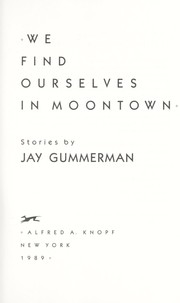 Cover of: We find ourselves in Moontown