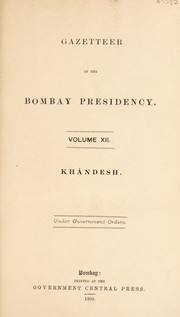 The Gazetteer of Bombay Presidency