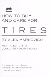 Cover of: How to buy and care for tires
