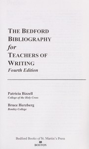Cover of: The Bedford bibliography for teachers of writing | Patricia Bizzell