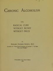 Cover of: Chronic alcoholism