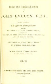 Cover of: Diary and correspondence of John Evelyn, F.R.S.