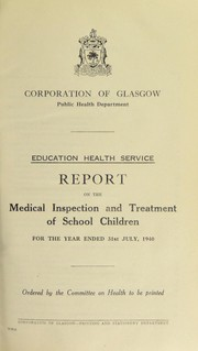Cover of: [Report 1940] | Glasgow (Scotland)