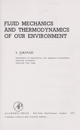 Fluid mechanics and thermodynamics of our environment (1975