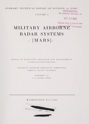 Cover of: Military airborne radar systems [MARS]