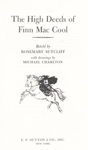 Cover of: The high deeds of Finn Mac Cool | Rosemary Sutcliff