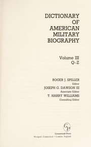 Cover of: Dictionary of American Military Biography, Vol. 2 | Roger J. Spiller