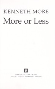 Cover of: More or less