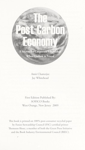 The post-carbon economy by Amit Chatterjee