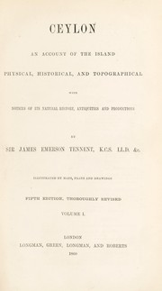 Cover of: Ceylon