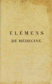 Cover of: ©l©♭mens de m©♭decine de J. Brown