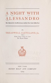 Cover of: A night with Alessandro | Treadwell Cleveland
