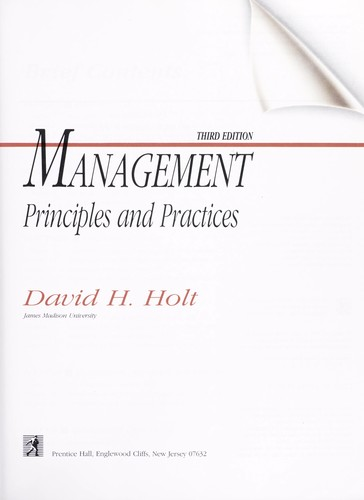 Management Principles and Practices Annotated Instructor's Edition by