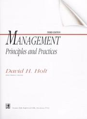 Cover of: Management Principles and Practices Annotated Instructor's Edition |