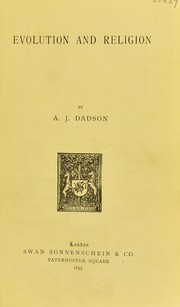 Cover of: Evolution and religion | A. J. Dadson