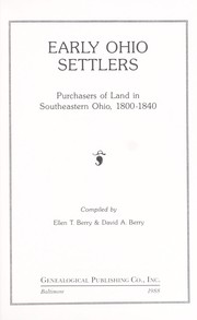 Cover of: Early Ohio settlers : purchasers of land in southeastern Ohio, 1800-1840 |