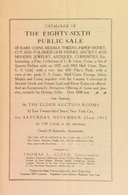 Cover of: Catalogue of the eighty-sixth public sale ... | Thomas L. Elder