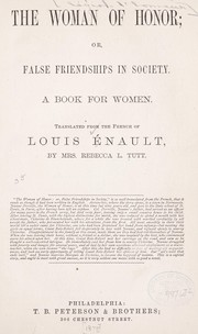 Cover of: The woman of honor | Louis Enault