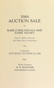 Cover of: 104th auction sale of rare coins, medals, and paper money | M. H. Bolender