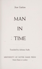 Cover of: Man in time | Jean Guitton