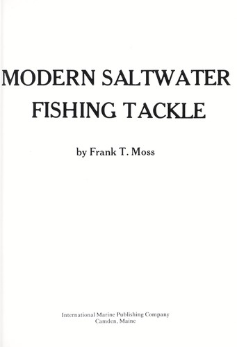 Modern saltwater fishing tackle (1976 edition) | Open Library