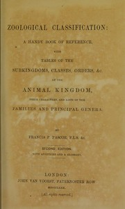Cover of: Zoological classification