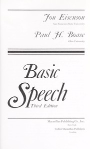 Cover of: Basic speech